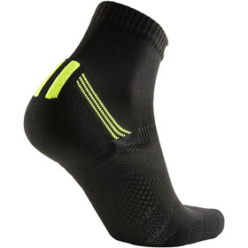 UYN Run Veloce Chaussettes Homme, black/yellow fluo